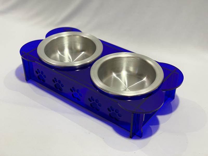 Comedouro Pet M Azul